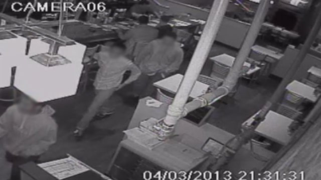 Police released this picture taken from security camera video at Grill Marks. (April 3, 2013/Greenville Police Dept.)