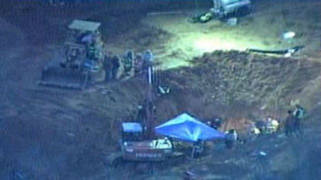 The construction site where the children were trapped beneath the dirt near Stanley, NC. (Source: WBTV)