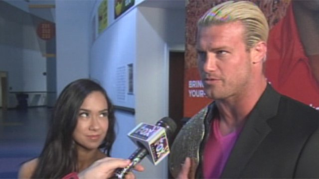World Heavyweight Champion Dolph Ziggler and WWE Diva AJ Lee. (Apr. 15, 2013/FOX Carolina)