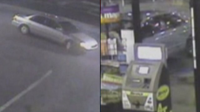Police say the man was dropped off in the car on the left and stole the car on the right. (Source: Spartanburg Public Safety Dept.)