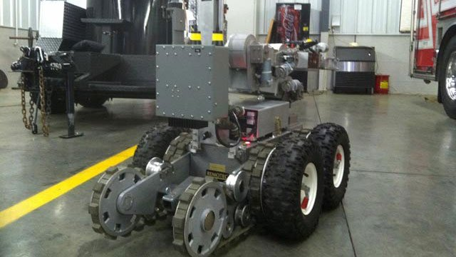 Chucky, Spartanburg County's bomb squad's robot. (Apr. 19, 2013/FOX Carolina)
