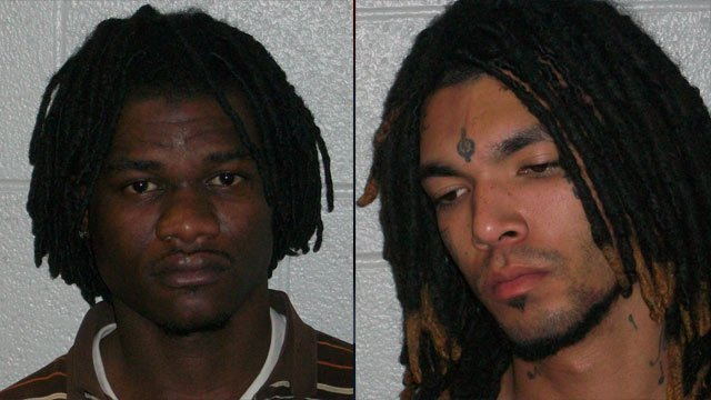 Vernon Brown (left) and Dusten Thomas-Yount (Source: Henderson Co. Sheriff's Office)