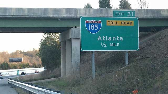A sign for the Southern Connector Toll Road. (File/FOX Carolina)