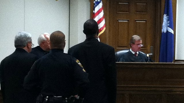 Gary Jeter Sr. appears before a judge in Spartanburg County on Tuesday. (Apr. 23, 2013/FOX Carolina)