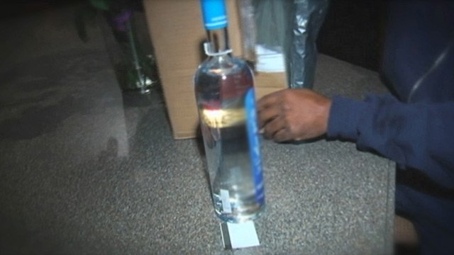 The bottle of vodka Karl Daniel II was able to pick up that his father ordered online. (File/FOX Carolina)