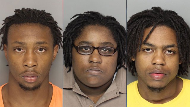 From left to right: Ronald Brown, Brittany Irby and Elijah Wilson. (Source: Greenville Police Dept.)