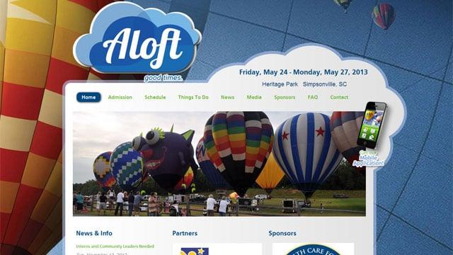 "The new logo of ""Aloft"" appears on the festival website. (aloft.org)"