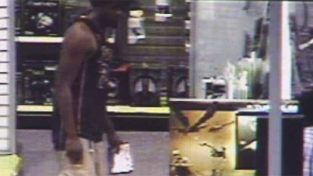 Spartanburg police say this man stole items from the Best Buy store. (Source: Spartanburg Public Safety Dept.)