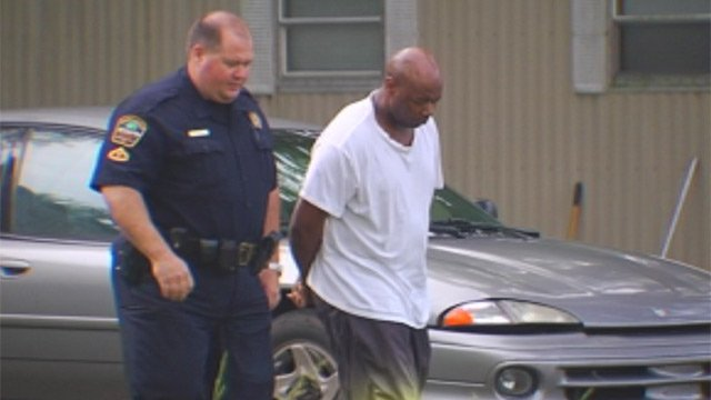 Deputies take David Hines into custody. (May 10, 2013/FOX Carolina)