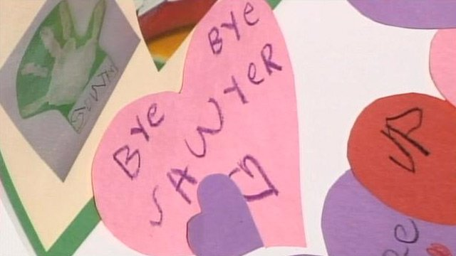 Dacusville Elementary School students made cards and memorials for Carly and Sawyer. (May 16, 2013/FOX Carolina)