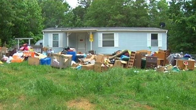 The home on Love Joy Lane where deputies say 80 dead animals were found. (May 26, 2013/FOX Carolina)