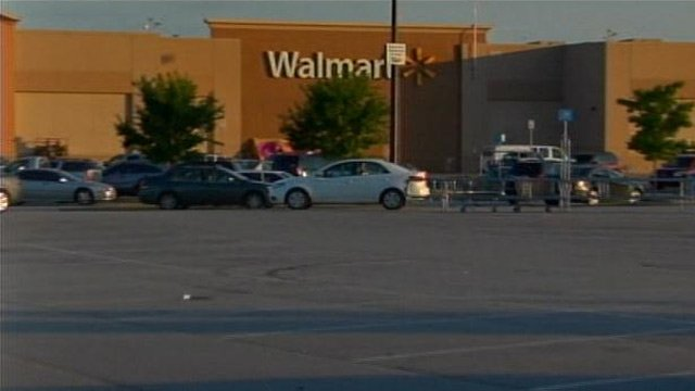 The Walmart in Union where police say Thurman became upset. (May 29, 2013/FOX Carolina)