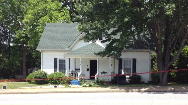 Police say they found a meth lab at a business and home along W. Curtis Street. (May 31, 2013/FOX Carolina)
