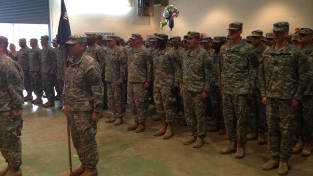 Soldiers return to Union County. (June 4, 2013/FOX Carolina)