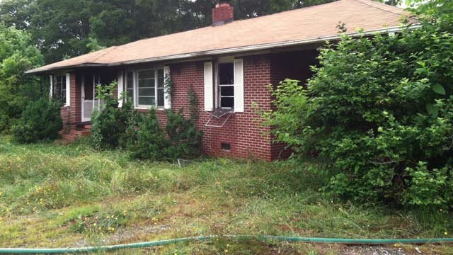 Fire damaged the home on Bolt Drive on Monday. (June 10, 2013/FOX Carolina)