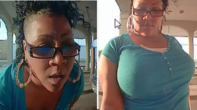 ATM surveillance of the woman police are looking for. (Source: Greenville Police Dept.)