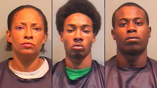 From left to right: Natasha Arnold, Secrea Arnold and Chevez Turner (Source: Union County Detention Center)