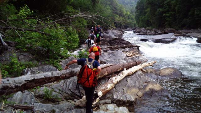 Search teams along the Chattooga River (Source: Oconee Co. Emergency Services)