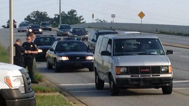 Deputies investigating a shooting in Greenville (June 21, 2013/FOX Carolina)