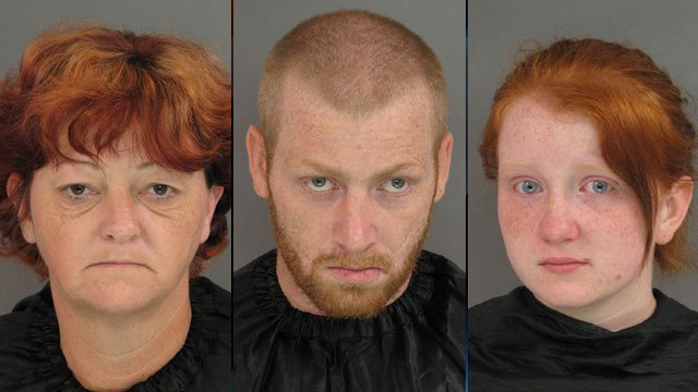 From left to right: Traci Albertson, B.J. Carrano and Ravyn Kelley. (Source: Anderson Co. Sheriff's Office)