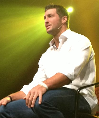NFL star Tim Tebow speaks Friday night at the Bi-Lo Center for Wildfire Weekend. (June 21, 2013/FOX Carolina)