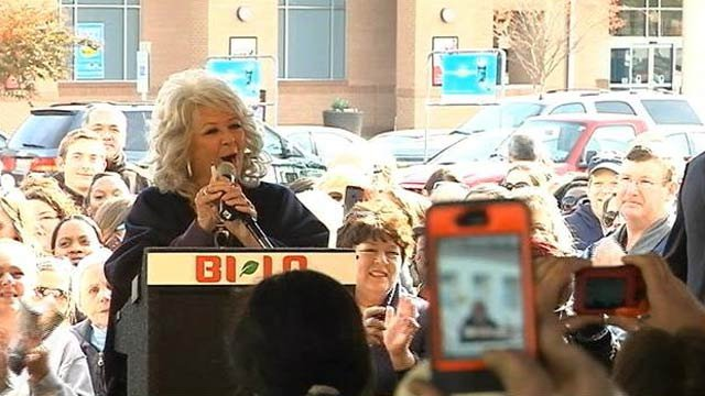 Paula Deen appears in Greenville at an Upstate fundraiser. (File/FOX Carolina)