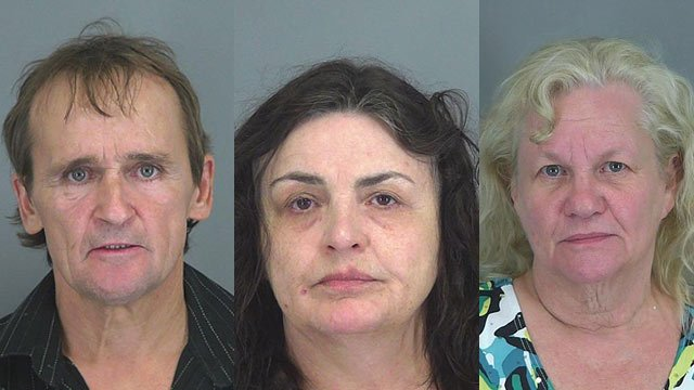 Thomas Snyder (left), Kathy Ann Wheeler (center), and Frankie Jo Martin (Spartanburg Co. Sheriff's Dept.)