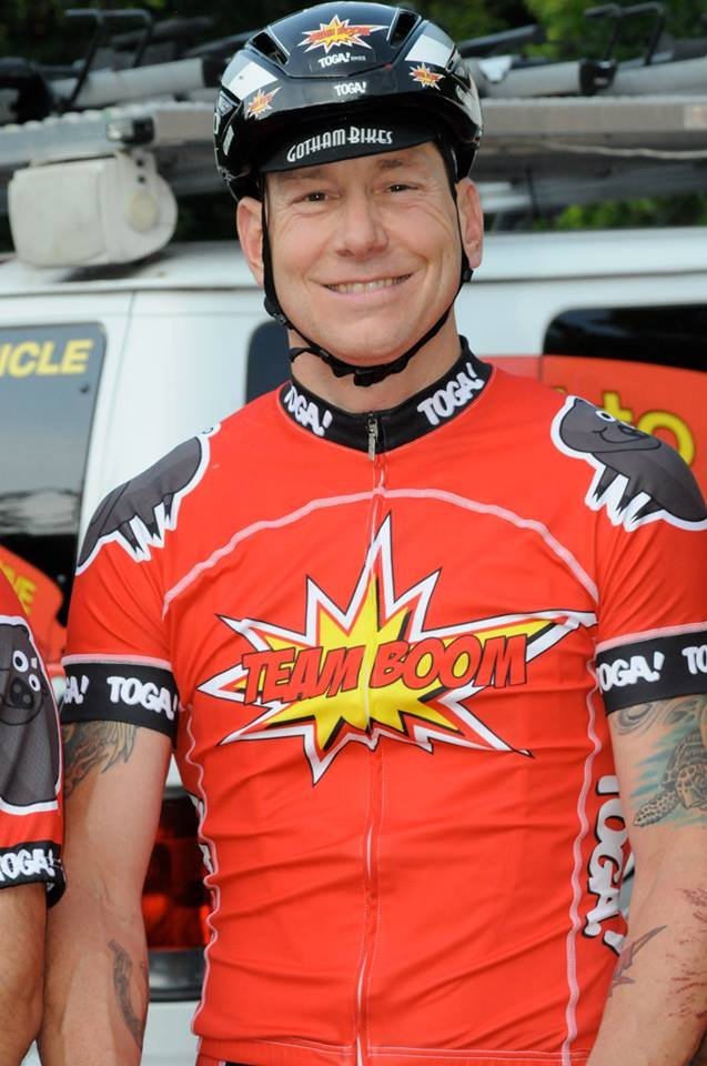 Photo of Dave Nazaroff from TOGA Multisport Ride to Give Benefiting Tripp Halstead Facebook page.