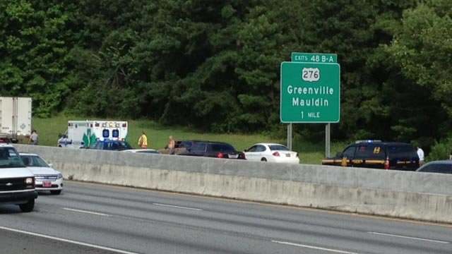 The scene of the incident on I85 (July 9, 2013/FOX Carolina)