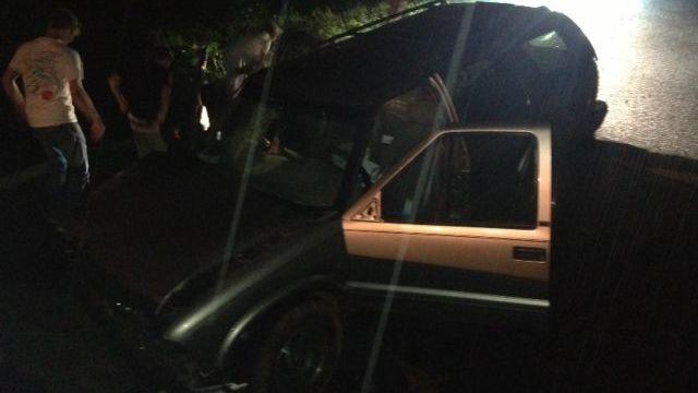 Vehicle stuck in Anderson county sinkhole (FOX Carolina)