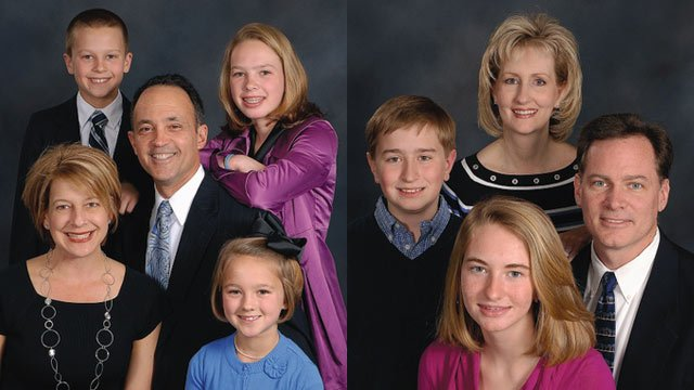 The Antonakos Family (left) and the McManus Family (Source: Christ Church Episcopal, Greenville, SC)