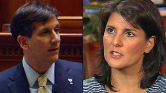 Vincent Sheheen and Nikki Haley (File/FOX Carolina)
