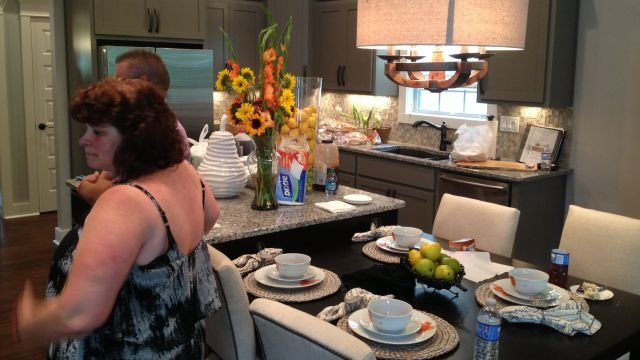 The Halstead family's kitchen and dining area.  Photo by FOX Carolina.