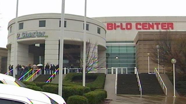 The Bi-Lo Center is located in downtown Greenville. (File/FOX Carolina)