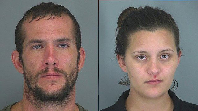 Zachary McCravey (left) and Brittany Rich (Source: Spartanburg Public Safety Dept.)
