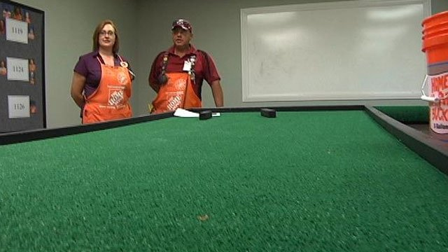Home Depot workers' putt-putt green. (July 17, 2013/FOX Carolina)