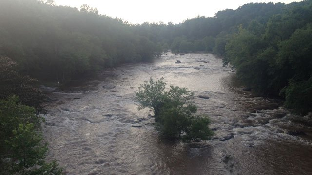 The Tyger River during the rescue. (July 18, 2013/FOX Carolina)