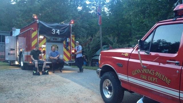 The scene of the rescue. (July 18, 2013/FOX Carolina)