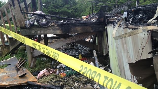 Fire destroyed the Daisy Drive home Sunday morning. (July 21, 2013/FOX Carolina)