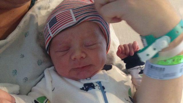Dawson Lee Farrell Underwood was born a few hours before the prince. (July 22, 2013/FOX Carolina)