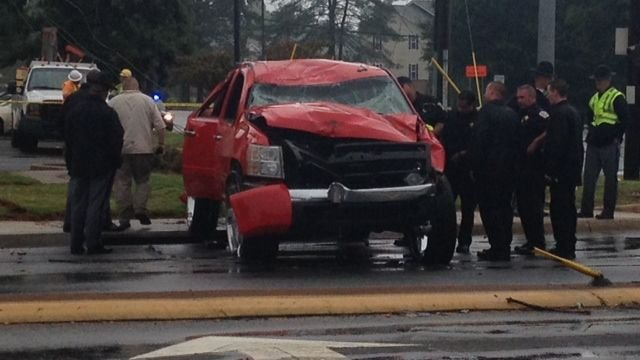 An accident in Anderson County on July 27, 2013.  Photo by FOX Carolina.