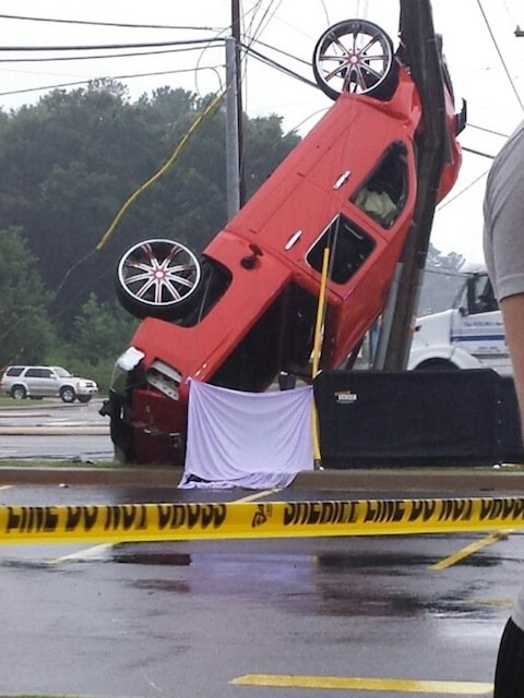 © An accident in Anderson County on July 27, 2013.  Photo from a FOX Carolina viewer.