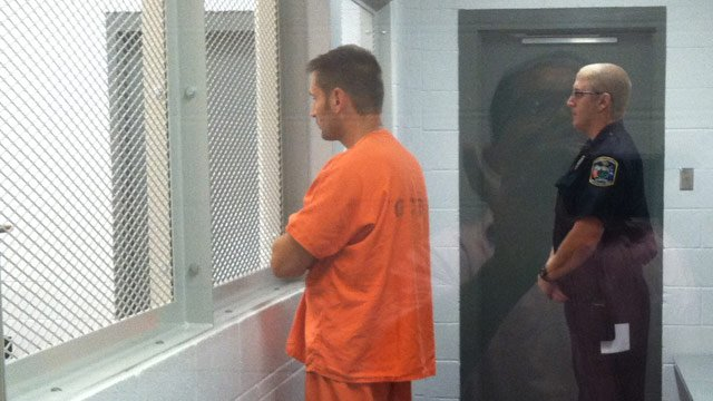 Seigler appears in bond court Wednesday night. (July 31, 2013/FOX Carolina)