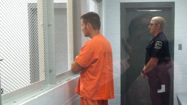 Seigler appears in bond court Wednesday night. (July 31, 2013/FOX Carolina)