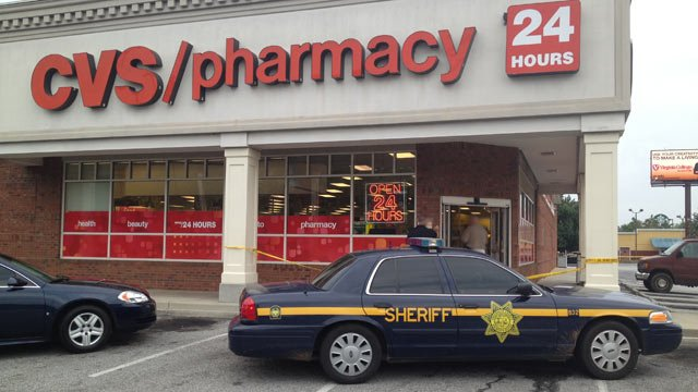 Greenville County deputies respond to the CVS on E. North St. (July 31, 2013/FOX Carolina)