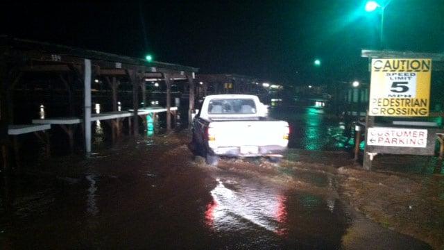Flooding at the Pickens County Flea Market. (Aug. 7, 2013/FOX Carolina)