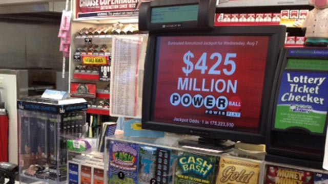 The Powerball Jackpot is up to $425 million for Wednesday's drawing. (Aug. 7, 2013/FOX Carolina)