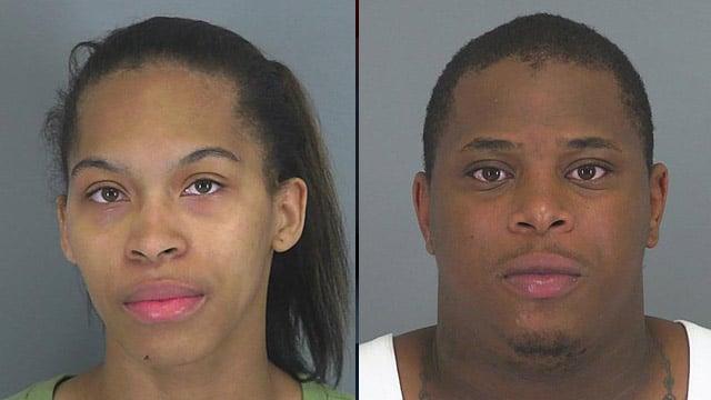 Kiara Kerns (L) and Ryan Sexton (Source: Spartanburg Co. Sheriff's Office)