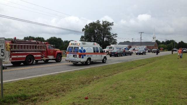 Scene of the accident. (Source: FOX Carolina)