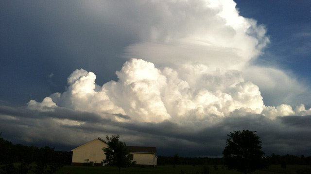 Clouds on Wednesday in the Upstate (Source: iWitness)